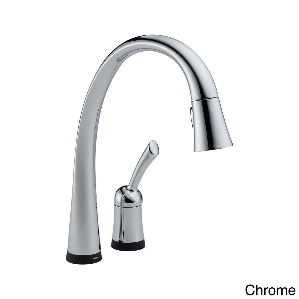 Delta Pilar Single Handle Pull Down Kitchen Faucet With Toucho Shop Linden Touch Chrome Out