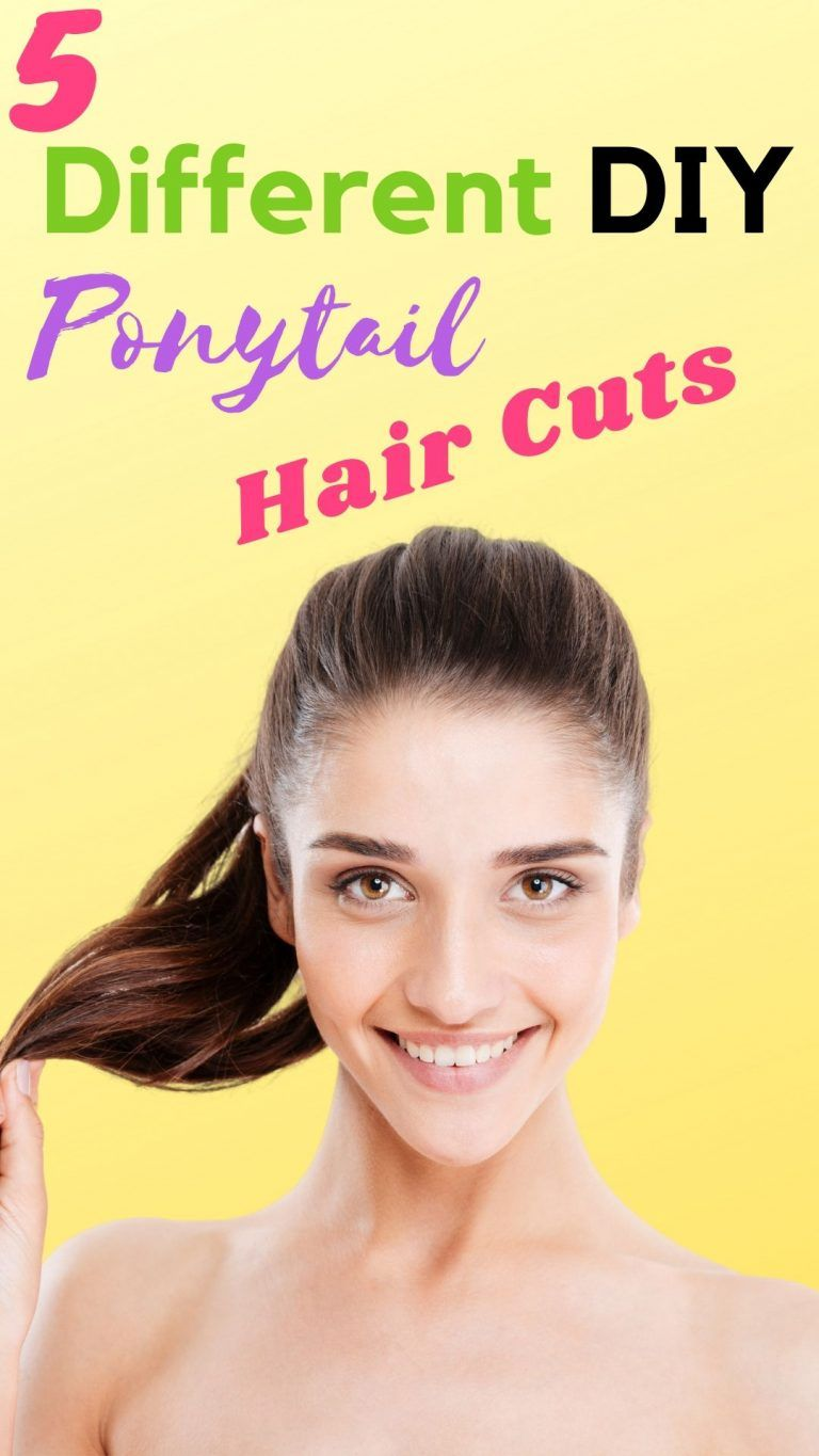 how to cut your own hair in a ponytail