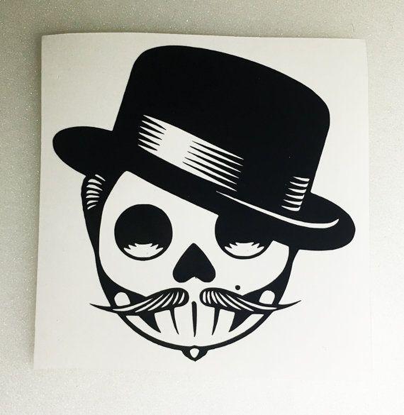 Rockabilly Sugar Skull Man W Hat And By