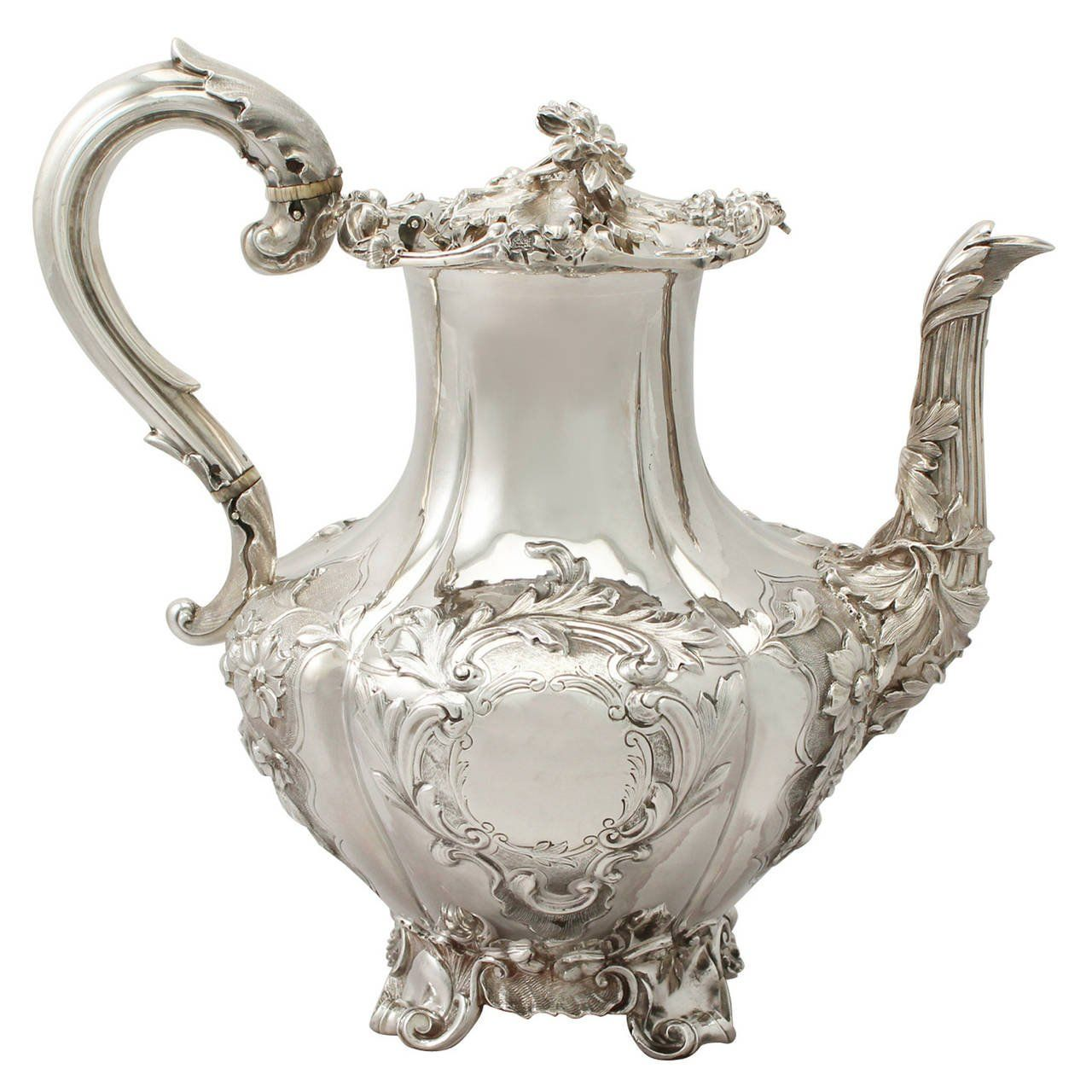 Sterling Silver Coffee Pot Antique Victorian