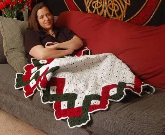 christmas afghan crochet pattern