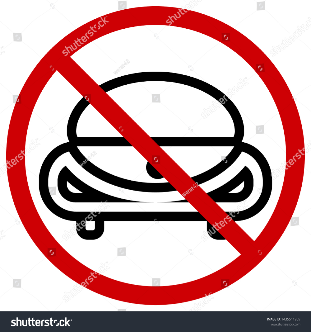 Red Circle Prohibition Signs For No Cars Icons Of The Future Or Cartoon Editable Stroke Vector Illustration Vector Car Icons Circle
