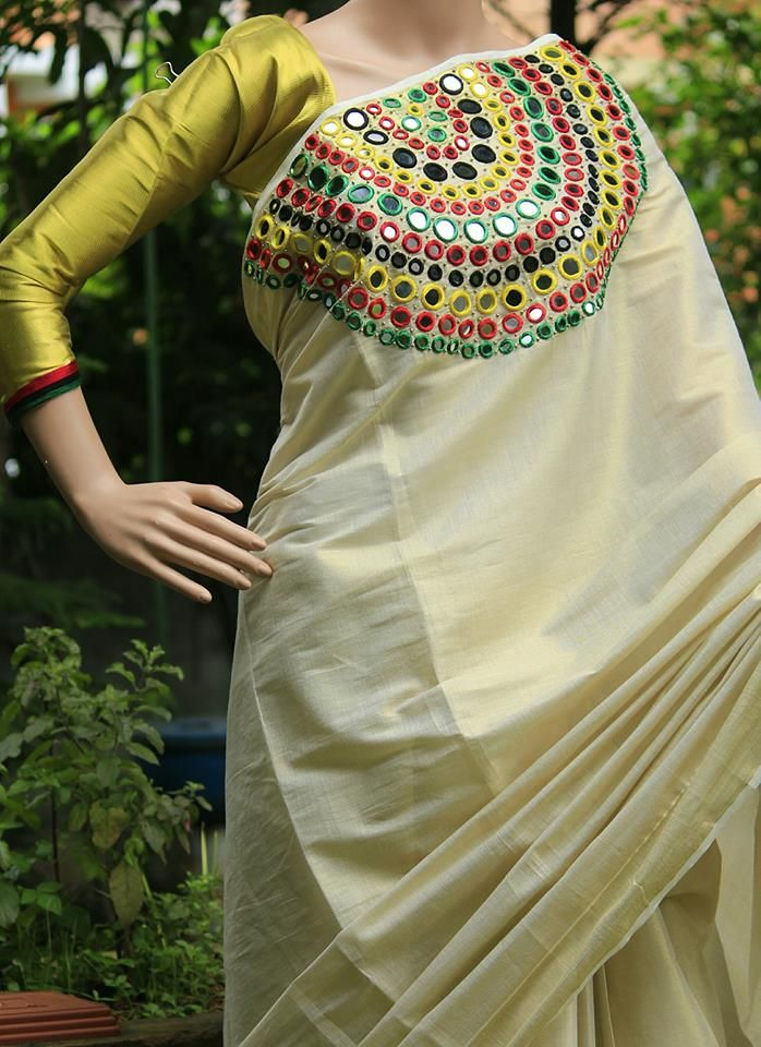 c45023b5de Pin by Arati Ranadive on Fashion and style in 2019 | Kerala saree ...