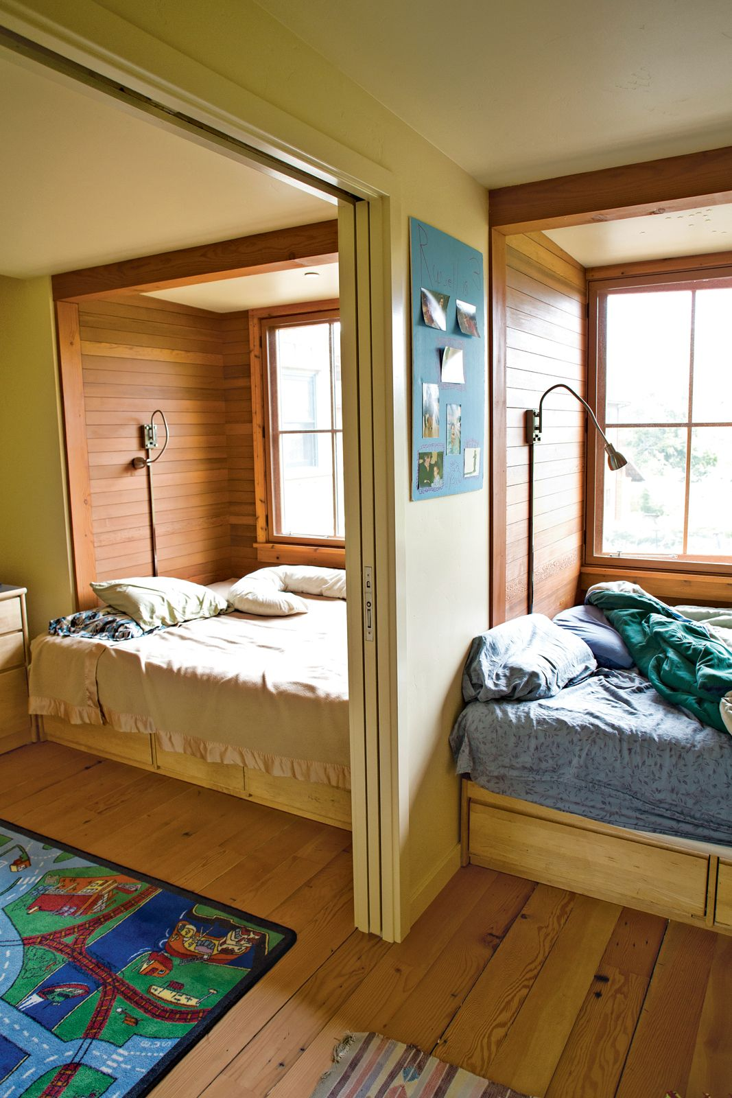 Re Used Dorm Furniture Finds A Place In This Santa Cruz Home Built Out Of  Hay Bales.