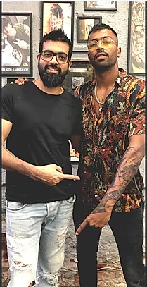 Hardik Pandya At Aliens Tattoo India. in 2020 Celebrity
