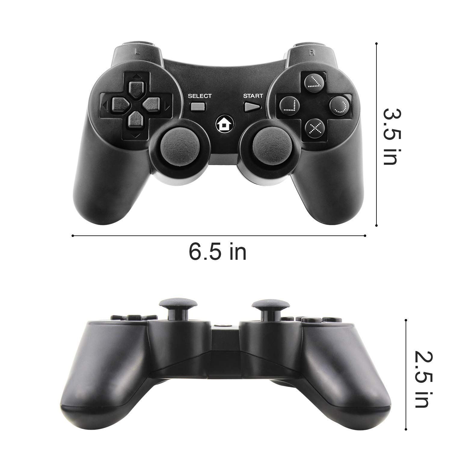 Jamswall Wireless Ps3 Controller Wireless Gamepad For Playstation 3 Bluetooth Gaming Sixaxis Joystick With Us Wireless Controller Ps3 Controller Usb Chargers