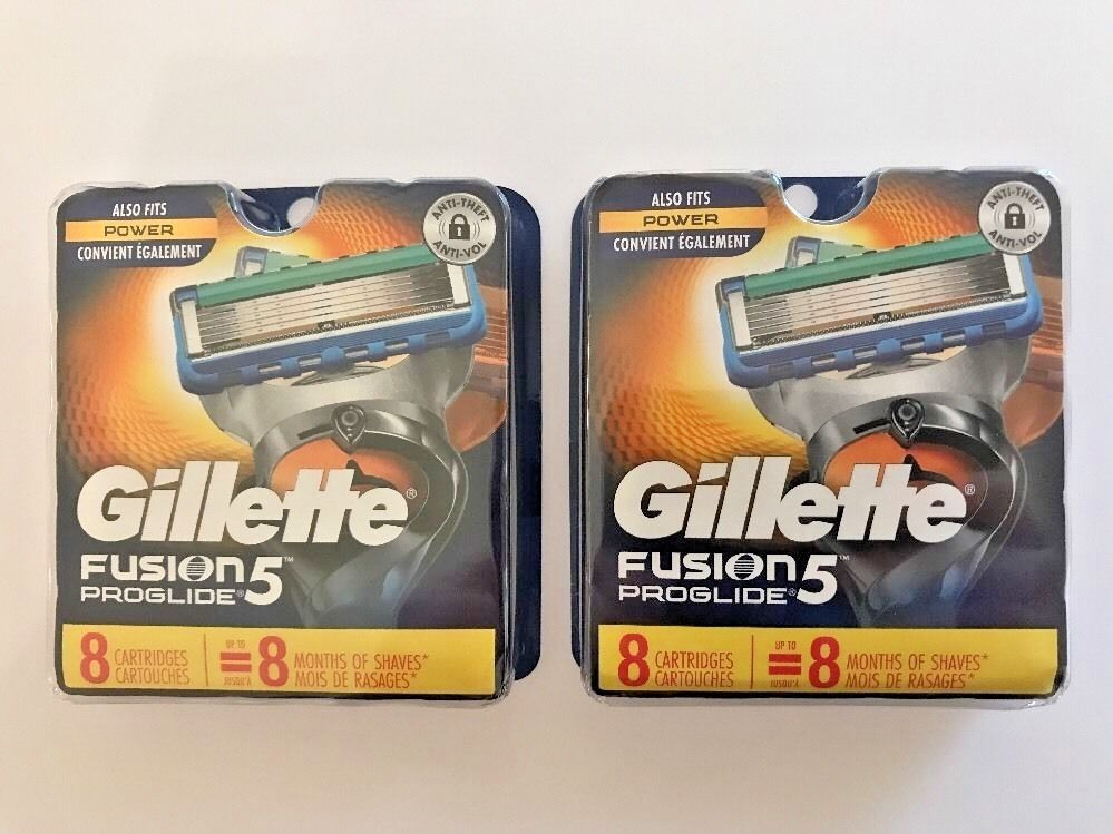 2 Gillette Fusion 5 Proglide Power 16 Cartridges Factory Sealed Authentic Gillette Gillette Fusion Gillette Skin Care Secrets