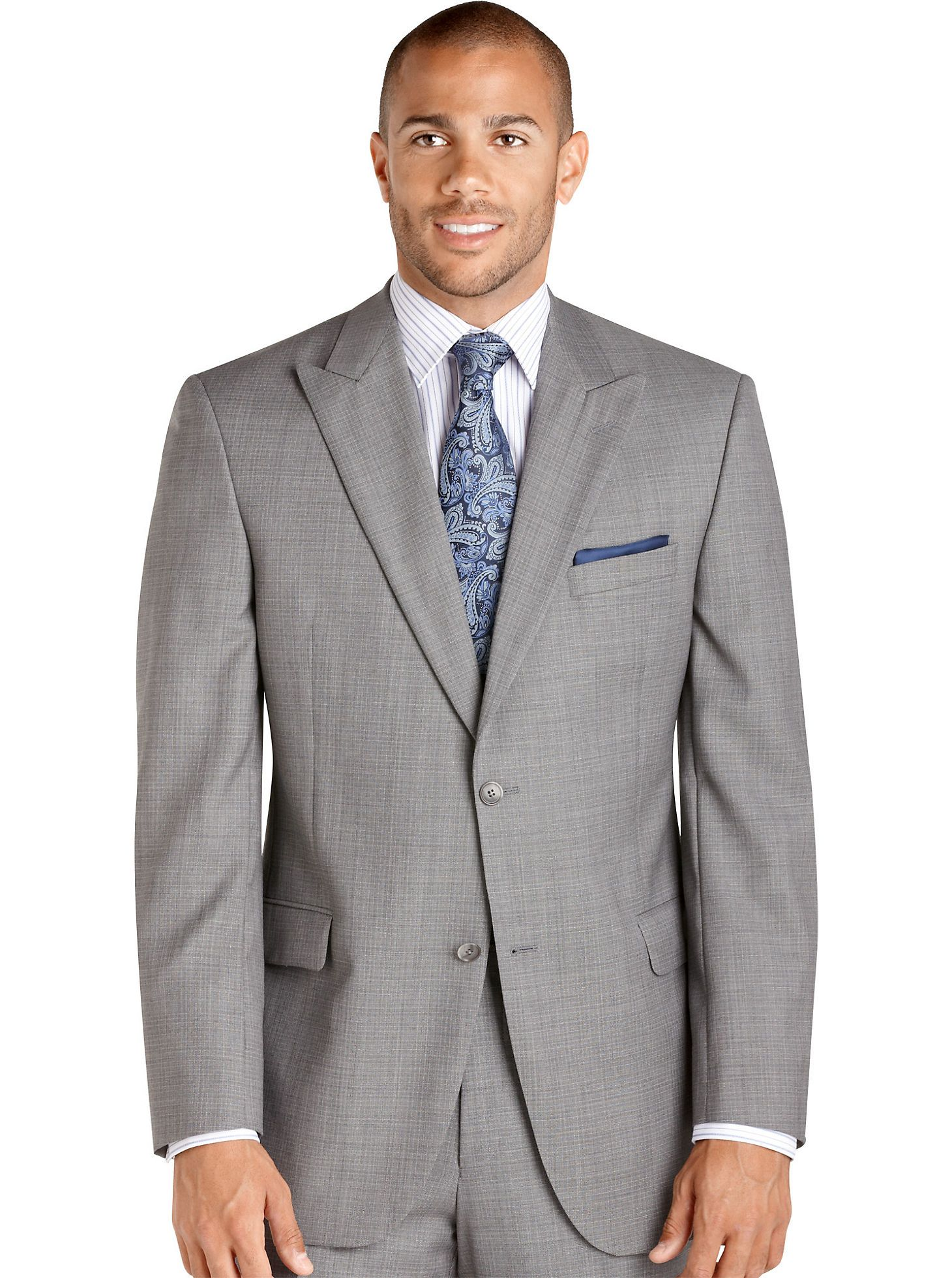 Suits Jack Victor Select Label Gray Check Suit Men's