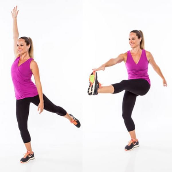 The Standing Abs Workout for a Six-Pack | Toe touches ...