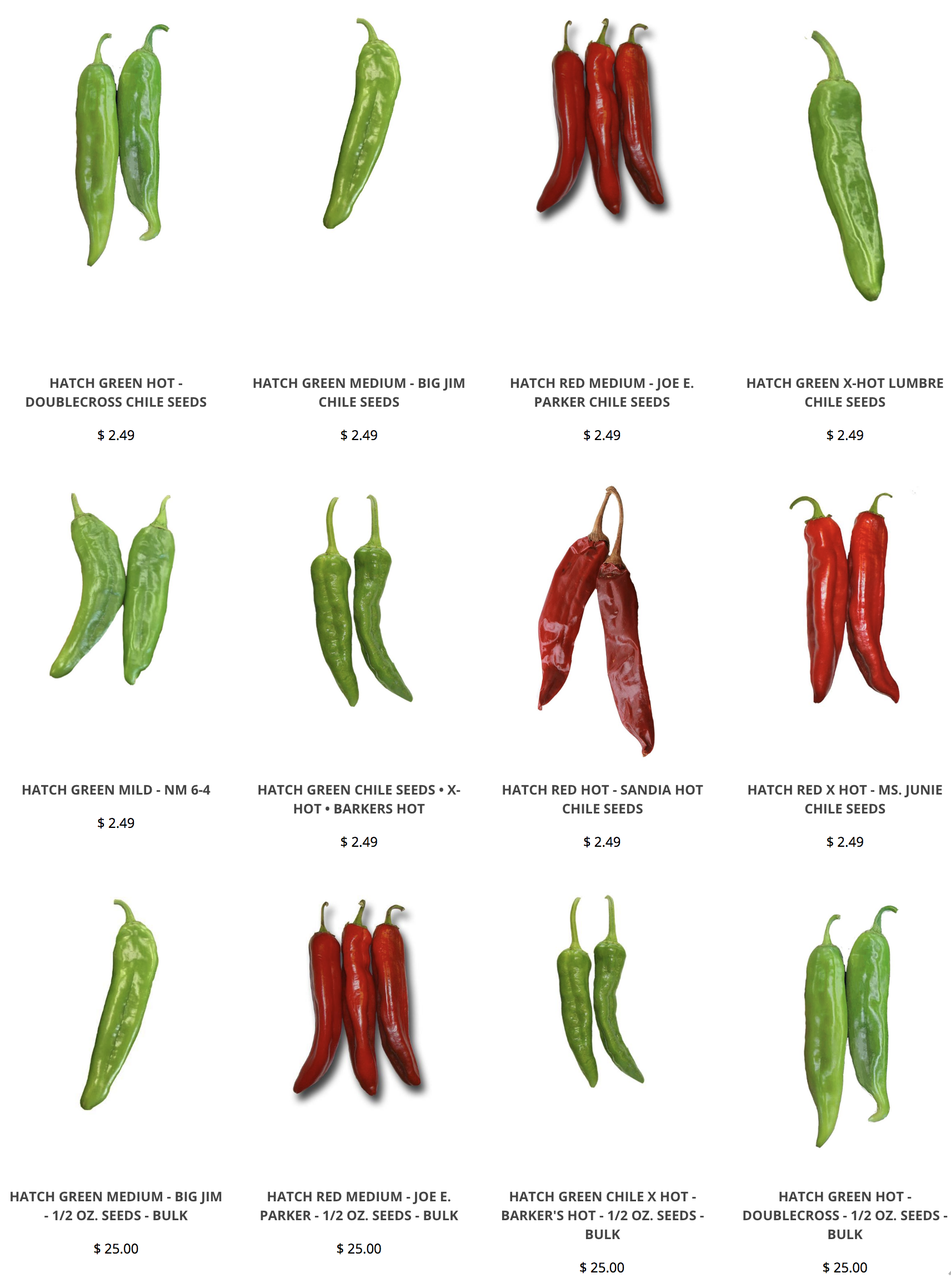 Hatch Chile Seeds Hatch Chile Green Chile Hatch Green Chile