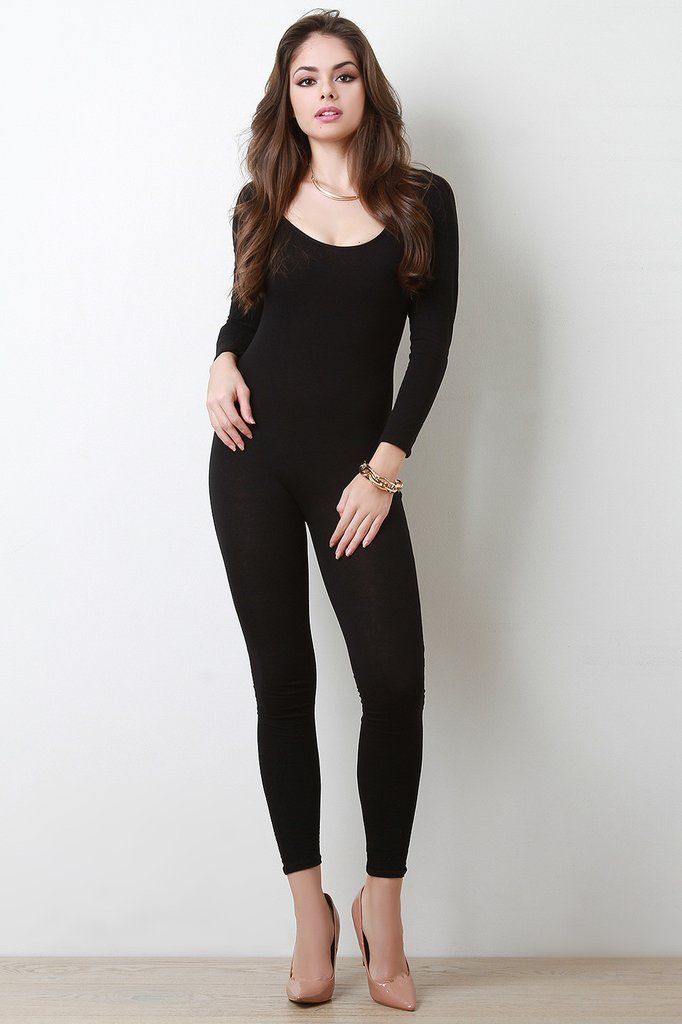 Modaonpoint This Simple Jumpsuit Features A Jersey Knit Fabrication