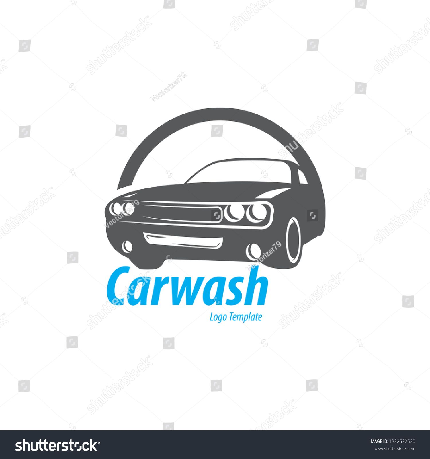 vector image car wash logo Shutterstock