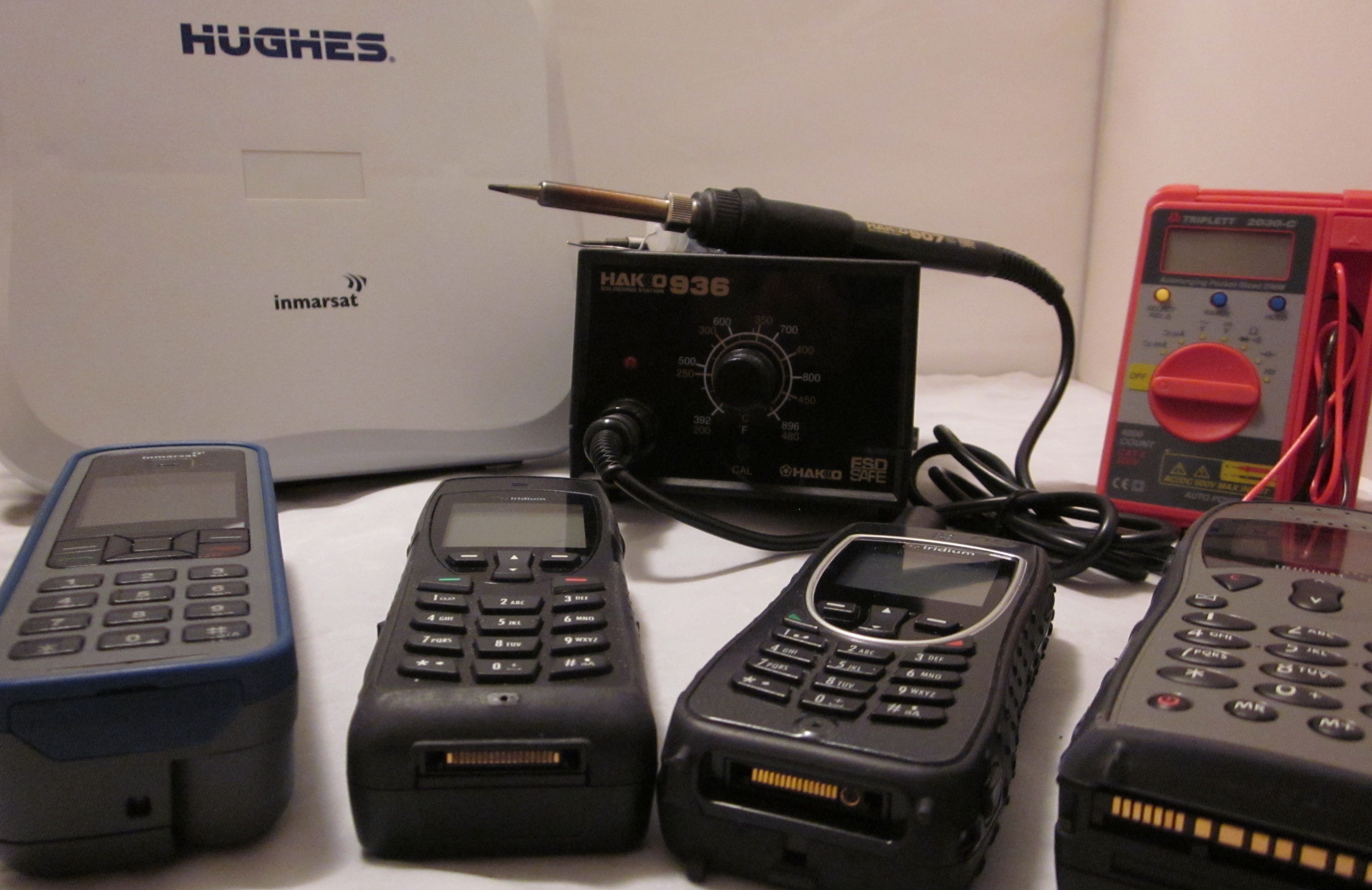 we repair and provide parts for all model satellite phones