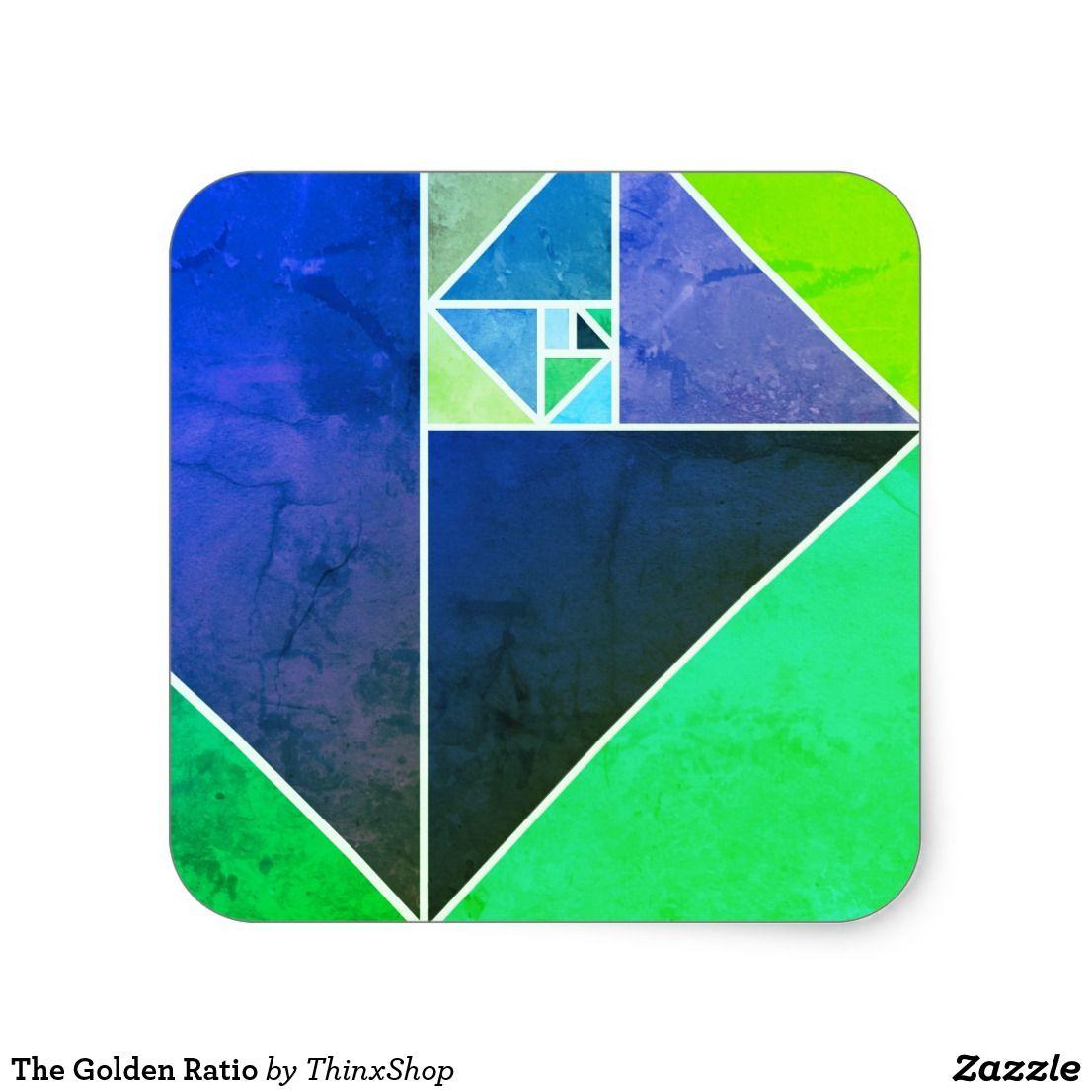 El coeficiente de oro pegatina cuadrada