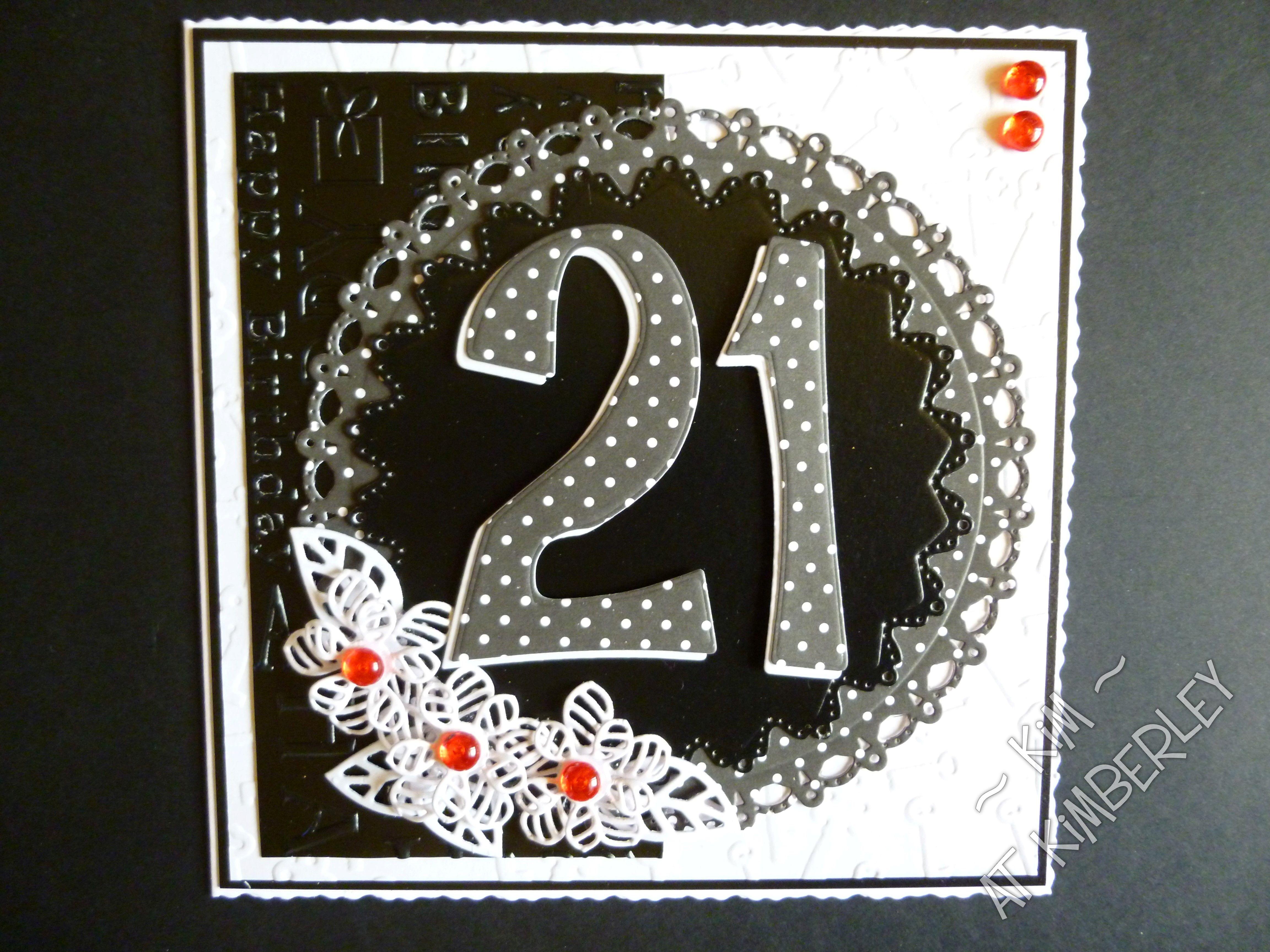 6x6 Inch 21st Birthday Card Big Birthdays Pinterest 21st