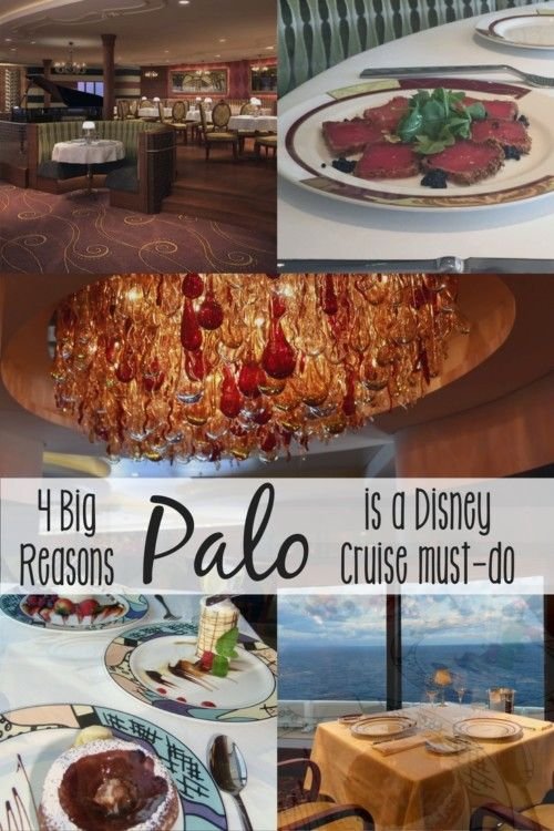 there are four big reasons you should try palo when taking a disney cruise the