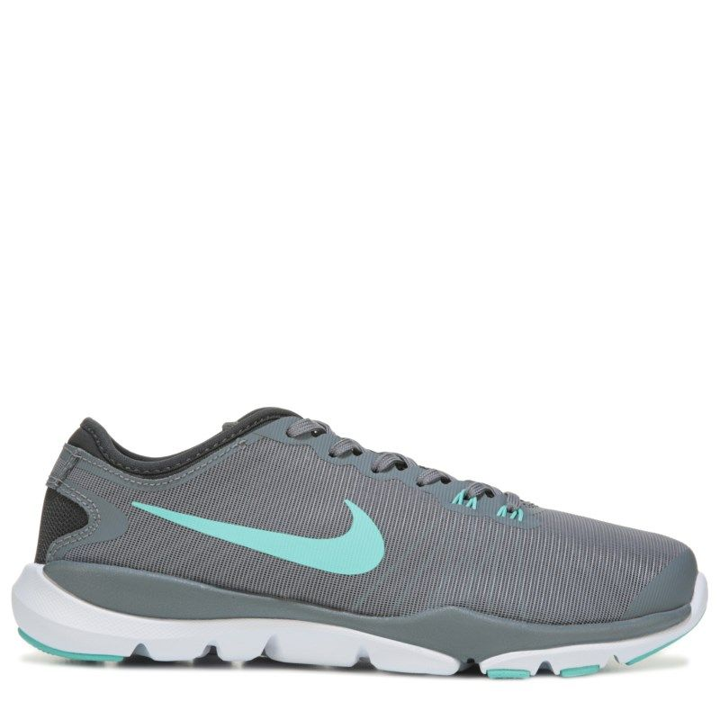 Nike Women's Flex Supreme TR 4 Wide Training Shoes (Grey/Mint)