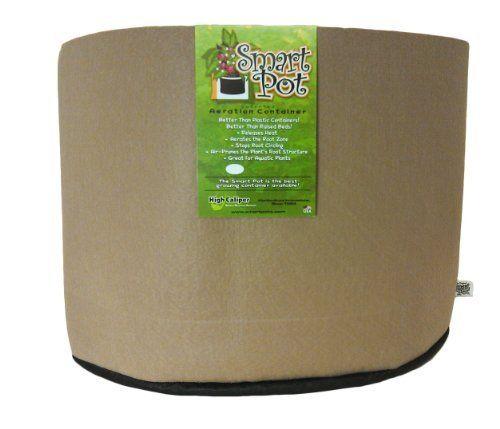 Smart Pots 15-Gallon Smart Pot Soft-Sided Container, Tan