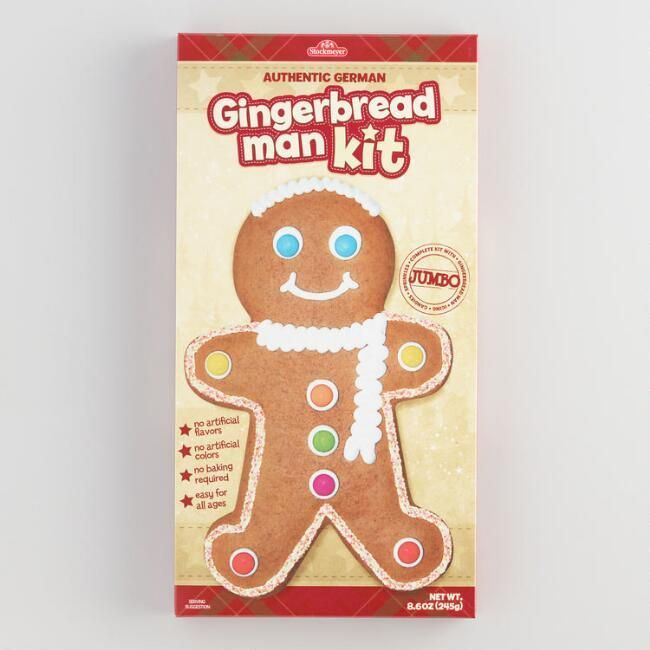 our do it yourself gingerbread man kit is yummy fun for the whole family it includes real german gingerbread delicious icing and colorful chocolate