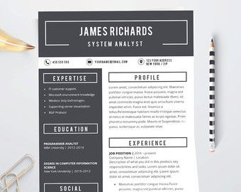 Professional Resume Template CV Template Resume by introDuice