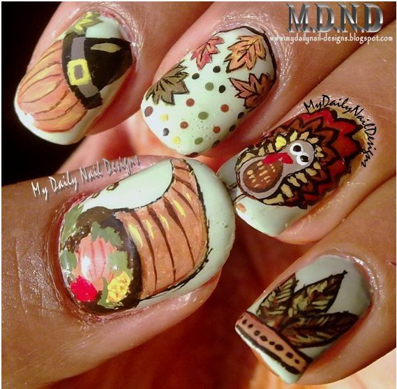15 awesome manicures you can do yourself for thanksgiving thanksgiving nails solutioingenieria Images