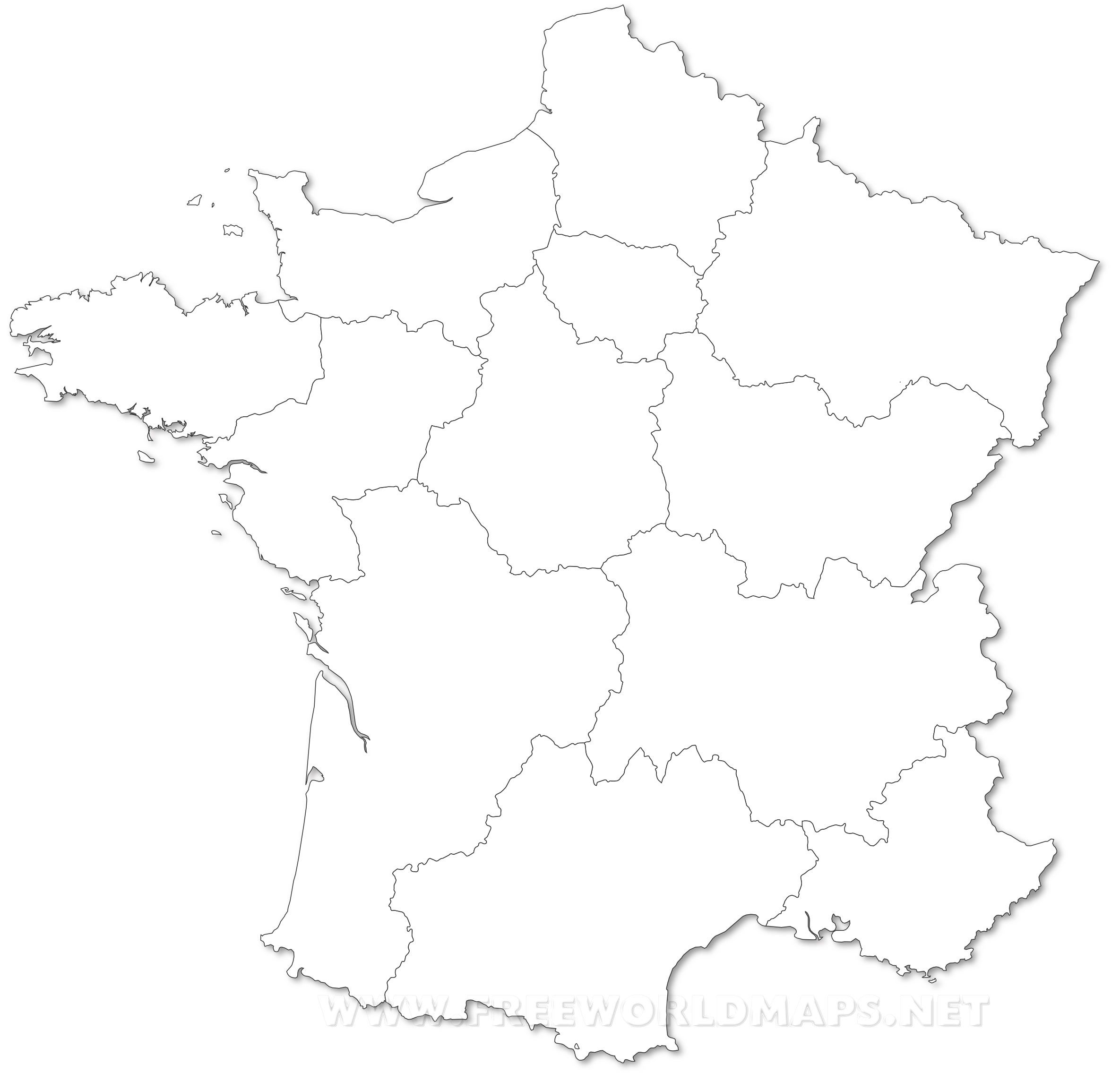 Outline Map France With Cities France Political Map