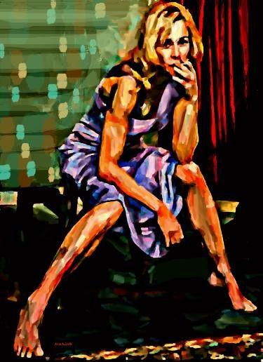 "Saatchi Art Artist ACQUA LUNA; Painting, ""88- Primer plano. Belen."" #art"
