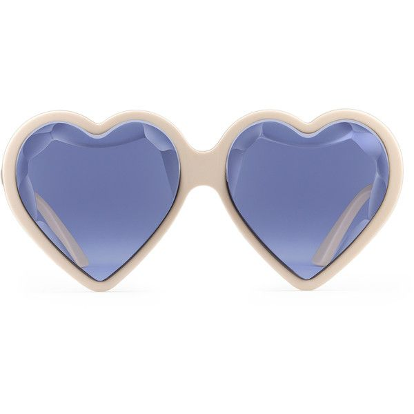 Heart-shaped Acetate Sunglasses - Red Gucci uNh0jC1