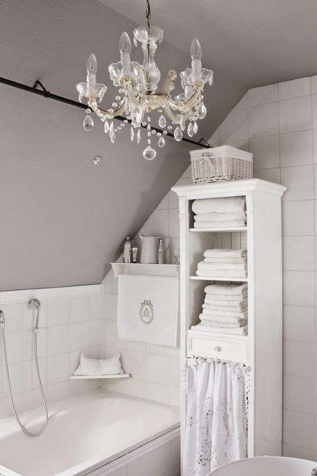 Arredare il bagno in stile romantico - Piccolo bagno romantico