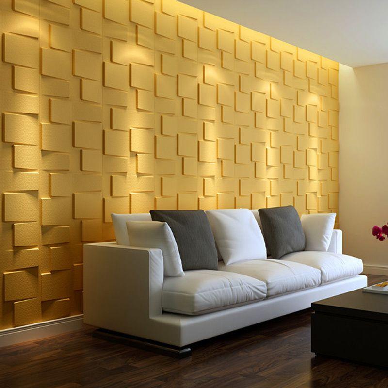 A21058 - Plant Fiber Wainscot 3D Wall Panels Off-white (Set 0f 12 ...