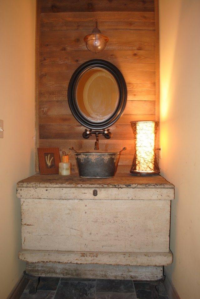 meuble-salle-bains-pas-cher-vasque-cuivre-commode-bois ...