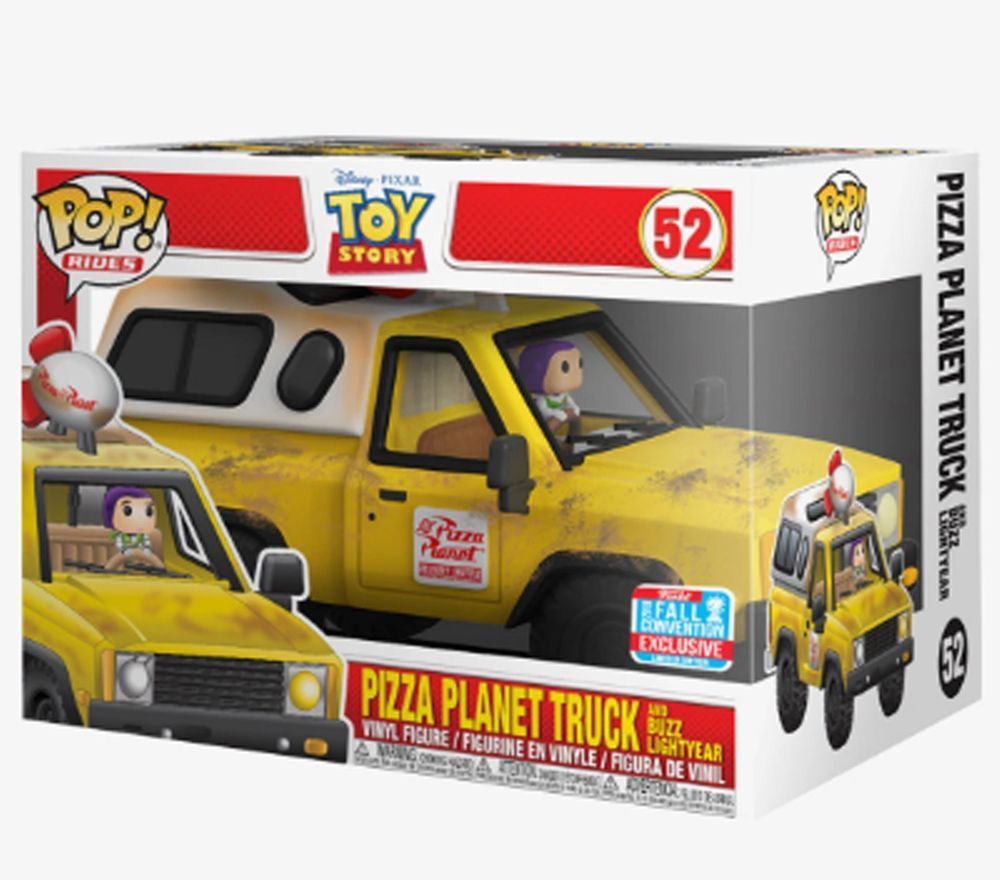 Ride Toy Story Pizza Planet Truck with Buzz Lightyear NYCC 2018 Exclusive Pop