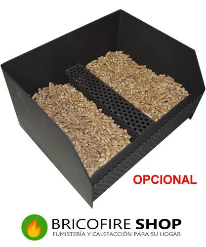 Cesta quemador de pellet con aireador extraible estufas for Cestas para lena