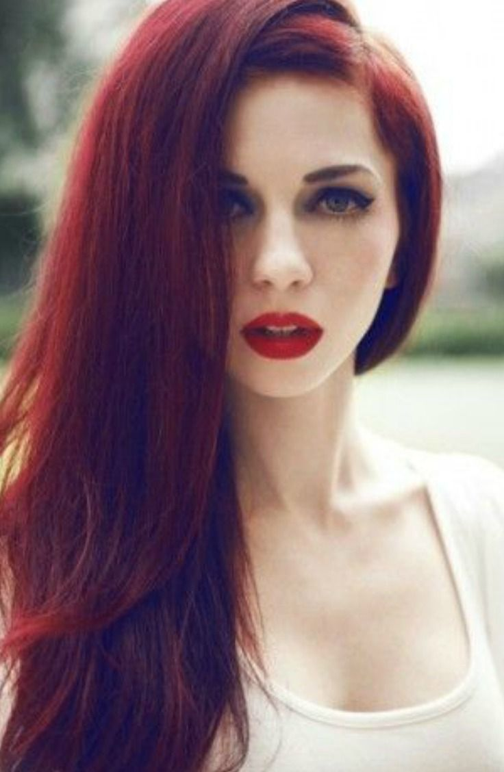 The 10 Biggest Hair Color Trends for 2016 Deep red hair
