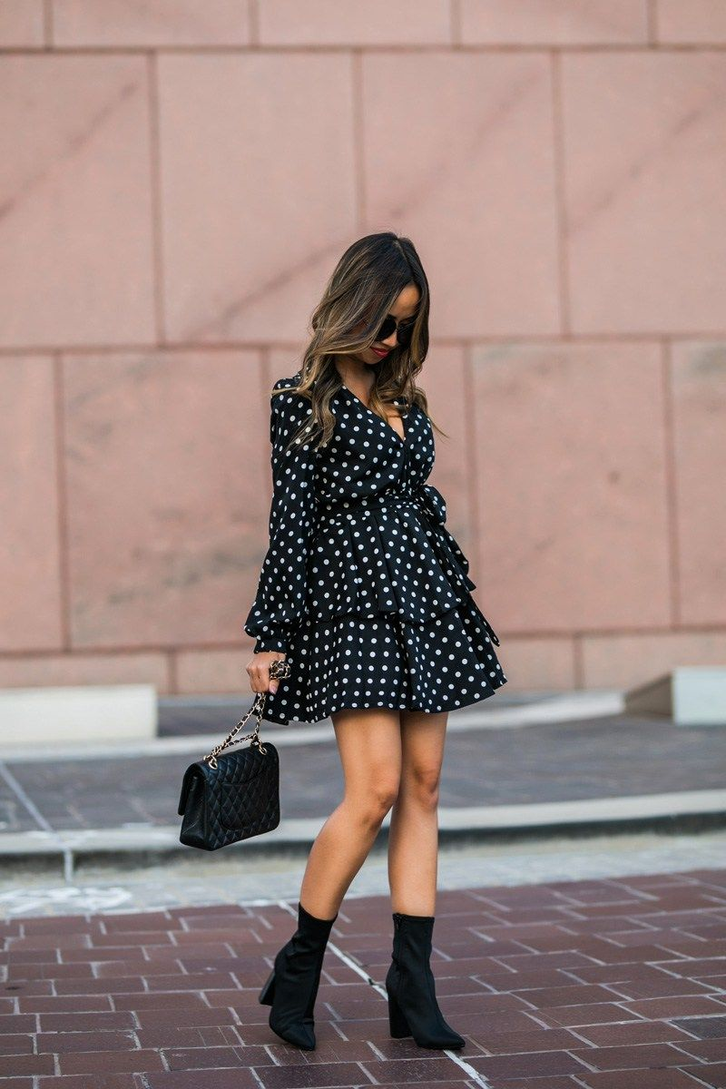 lace and locks, petite fashion blogger, polka dot dress, nordstrom ...