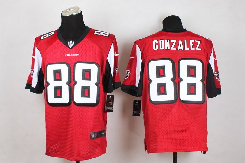 5b3d48f3f Atlanta Falcons Elite #88 Tony Gonzalez Red Men NFL Falcons Jersey ...