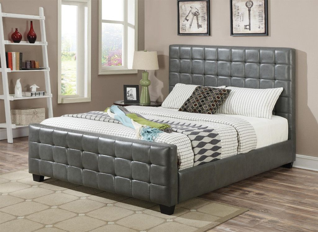 """New Tanner Grey Faux Leather Bed by Coaster """"king"""" Plan - Latest coaster bedroom furniture Style"""