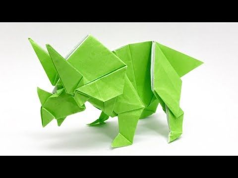 Photo of Dinosaurier Origami Triceratops (sakuB)