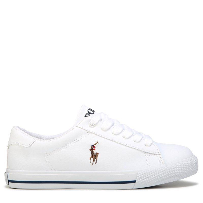 569e503b5a Polo by Ralph Lauren Kids' Easten II Sneaker Grade School Shoes (White)