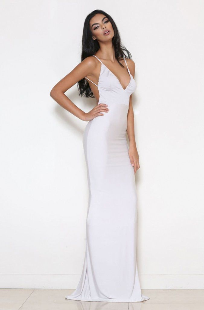 77397158c65 ABYSS BY ABBY CELINE GOWN Available in other colours Made from a premium  stretch-jersey fabric Lined Beautiful back ruching detail Model is wearing  size XS ...