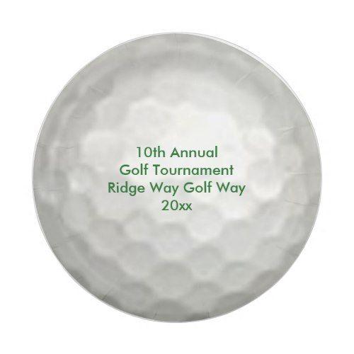 Golf Ball Tournament Paper Plates  sc 1 st  Pinterest & Golf Ball Tournament Paper Plates | Golf Inspiration | Pinterest | Golf