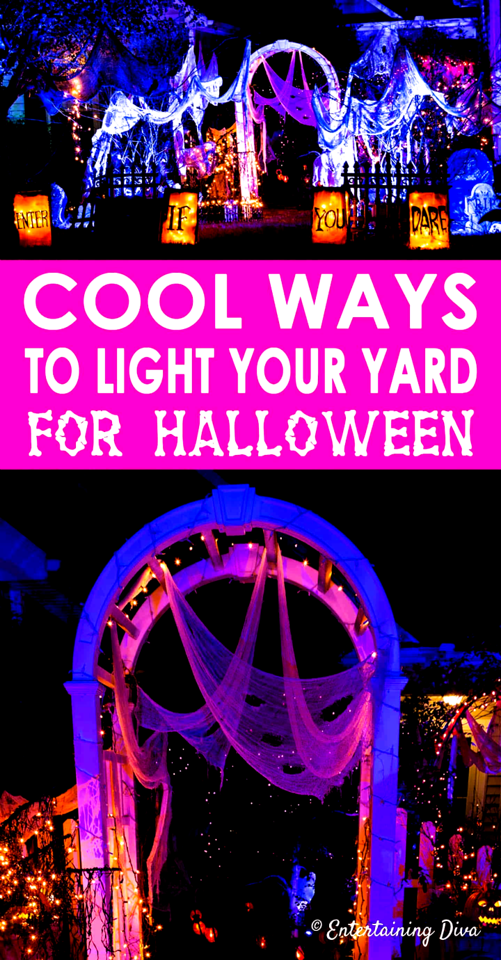 Awesome Halloween lighting ideas Im going to use these outdoor Halloween decorations to create a spooky yard haunt in my front yard