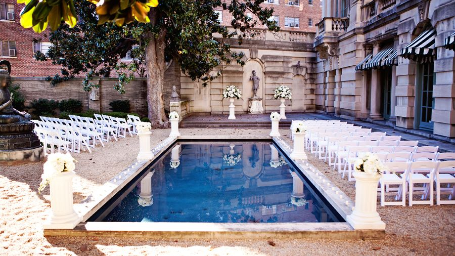 Anderson House Dc Wedding | Anderson House Pool Ceremony Paslar Wedding Wedding Wedding