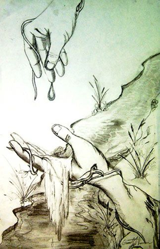 Art lesson plan hand scapes pencil drawing a lesson a b dali