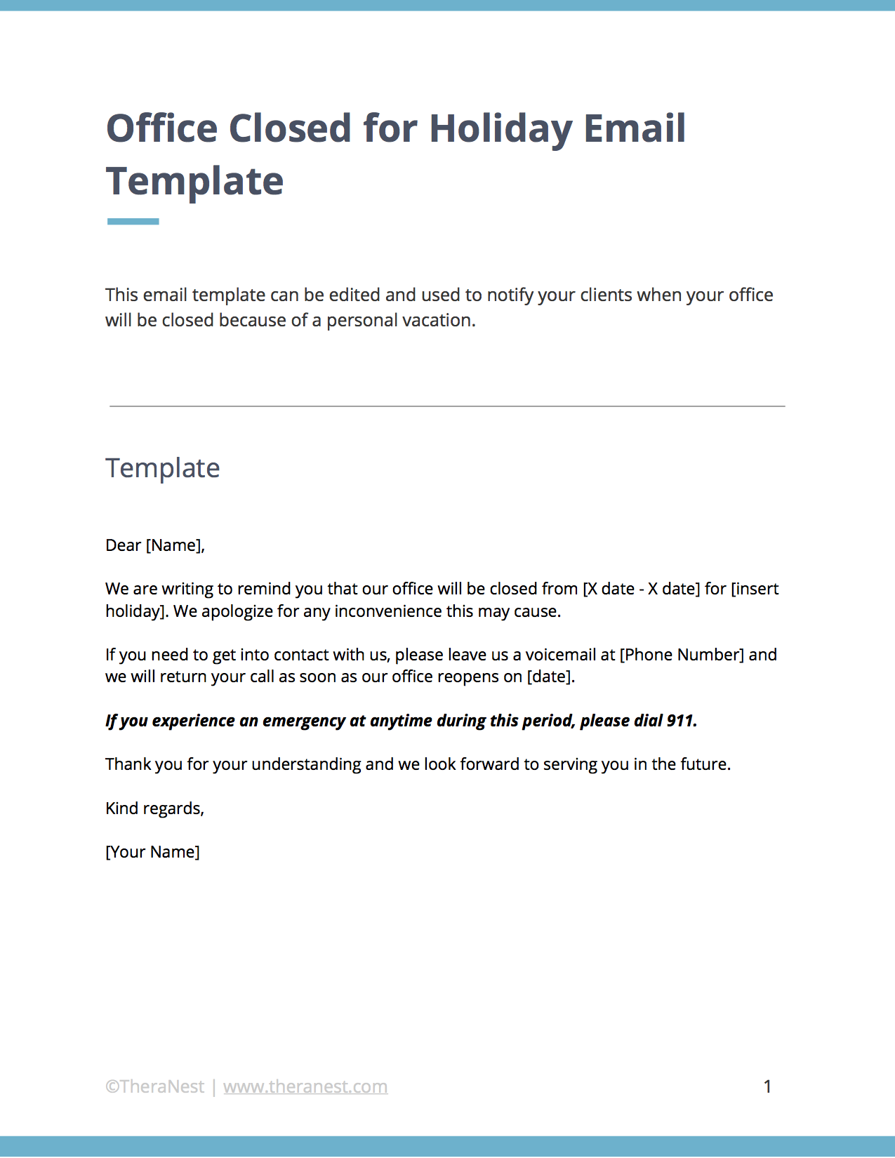 Email Templates For Communicating With Your Therapy Clients Email Templates Therapy Clients Templates