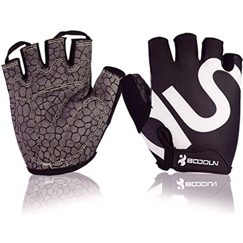 Boodun Men Women Cycling Gloves With Shock Absorbing Gel Pad