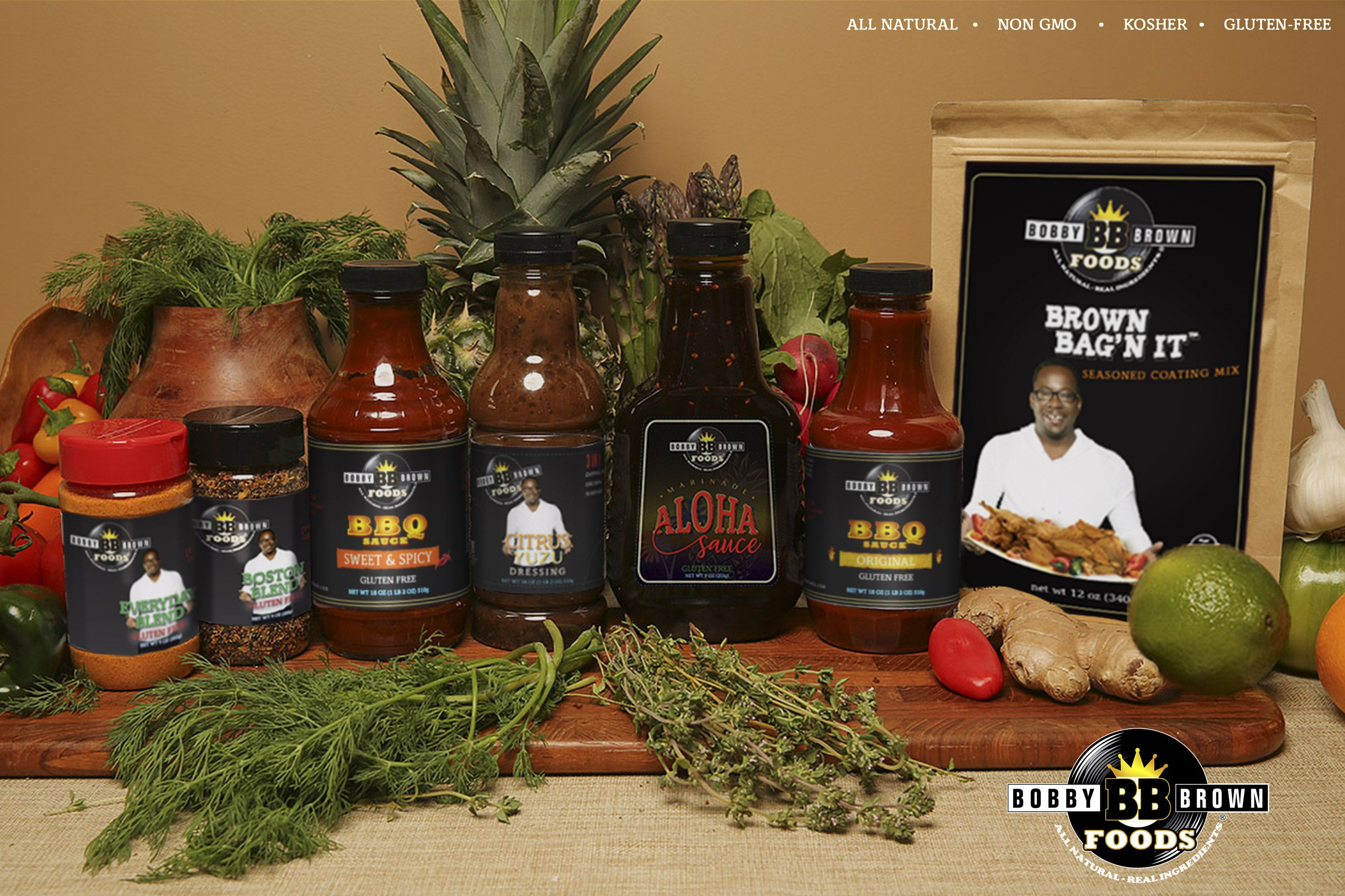 Bobby's Sweet & Spicy BBQ Sauce (2) | Bobby Brown Foods |Bobby Brown Foods Recipes