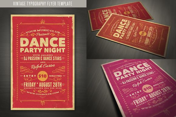 Vintage Style Typography Flyer | Nice, Typography And Creative