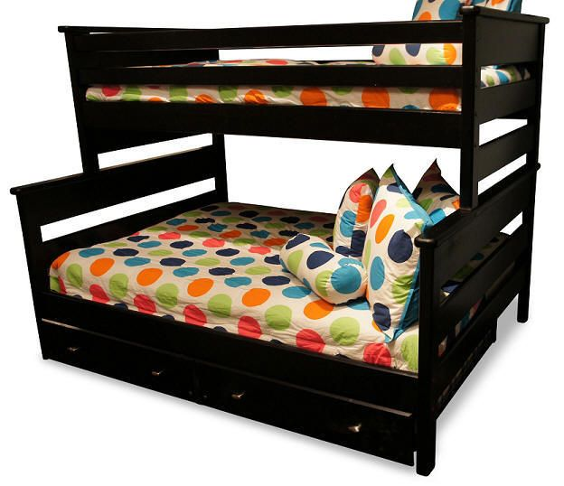 McCormick Road Twin Over Full Black Bunk Beds