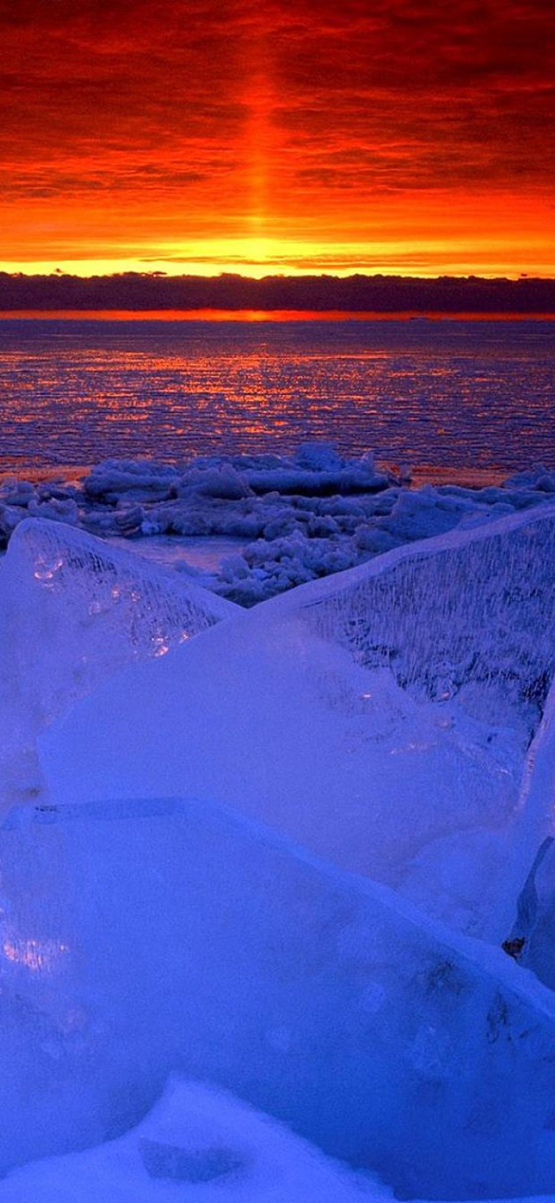Nature Ocean Sunset Iceberg Glacier Landscape iPhone X